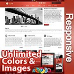 Ares Cherry Red - Responsive Skin - Bootstrap - Corporate / Business / Mobile Tablet Skin